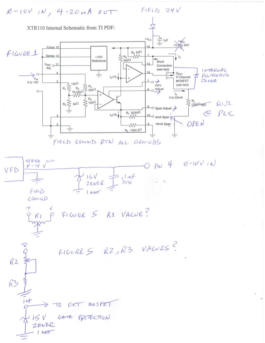 Resolved 0 10v To 4 20ma Interface Request Industry Standard 10vdc Wiring Diagram Thank You Very Much