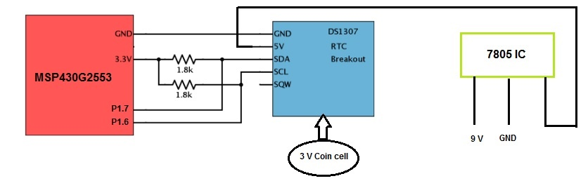 Msp430g2553 Msp430 Ds1307 Interfacing Issue Msp Low Power