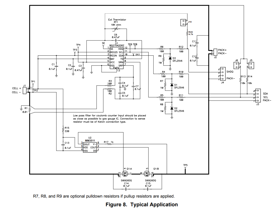 Resolved Bq27542 G1 Which Reference Schematic To Use Power Design Schematics My Customer Is Designing In The And They Found Two Very Similar One Datasheet A