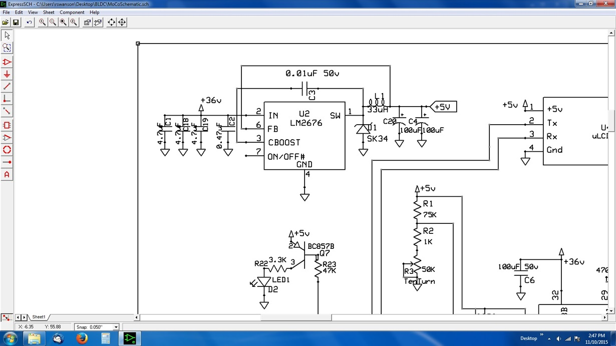 Resolved Lm2676 Output Power Management Forum Technical Expresspcb Schematic And Pcb Design Software New Version I Have Used The Data Sheet Nomographs Associated Procedures Resulting In Following Layout