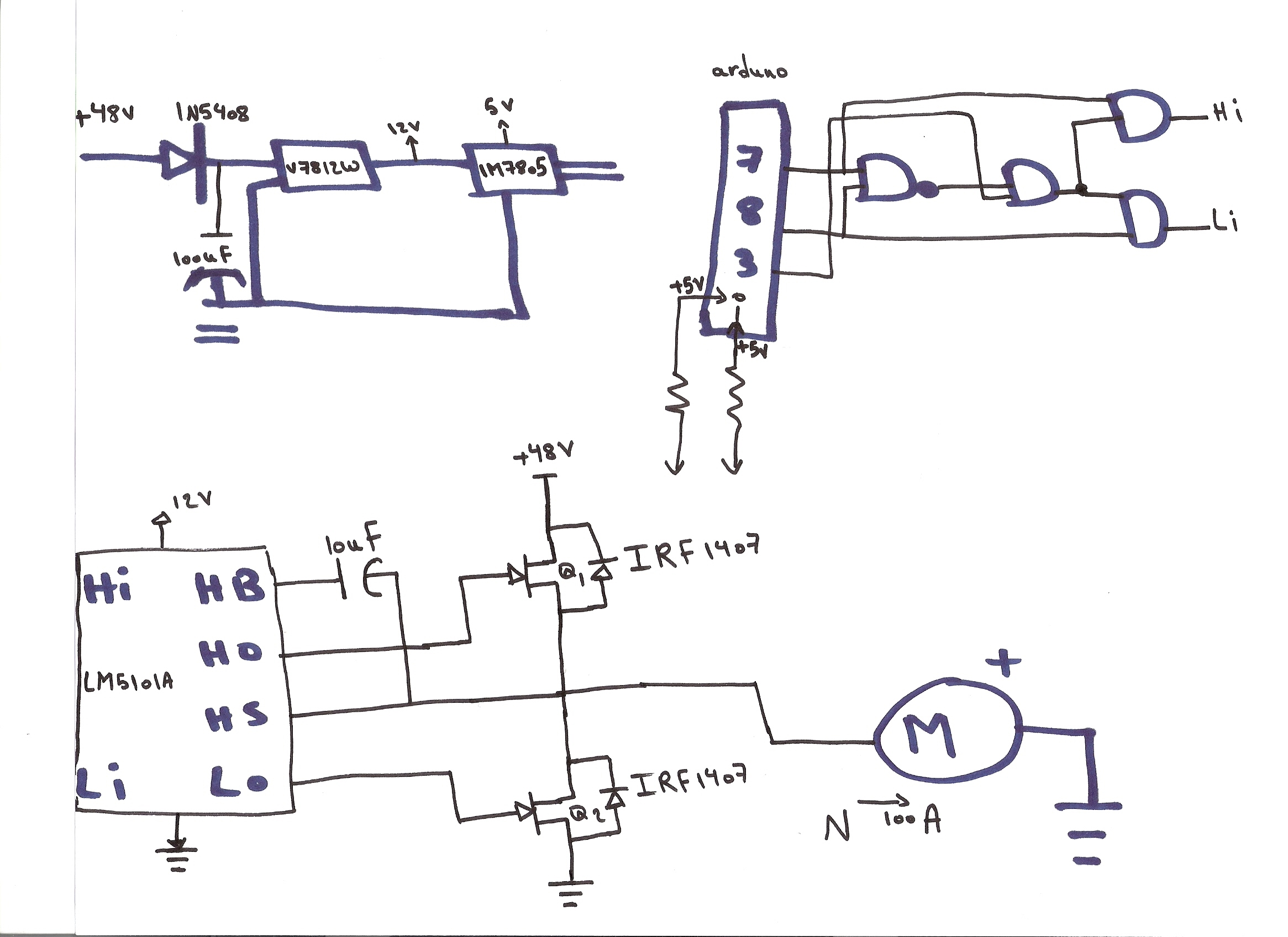 Lm5101a Keeps Burning Simple Circuit 2 Mosfet Half Bridge With Using A Fet As Voltage Controlled Resistor The And Gates Variable Arduino Uno Are 5 Volts From Lm7805 Chip Vdd Is Coming Ada Fruit Module V7812w