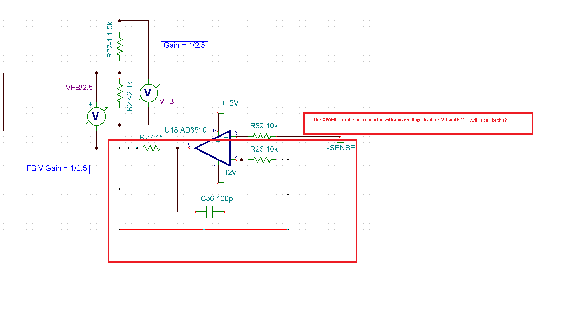 Resolved Tina Spice Problem With Voltage Divider Error And Potential Circuit 1 Opamp Ckt Is Not Connected N W You Mentioned Please Confirm On This