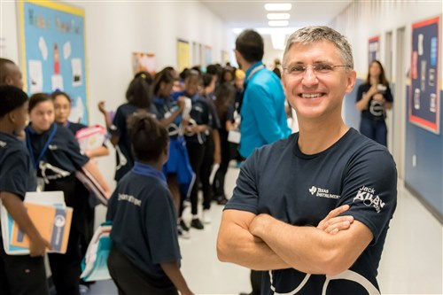 Peter Balyta at KIPP school in Dallas