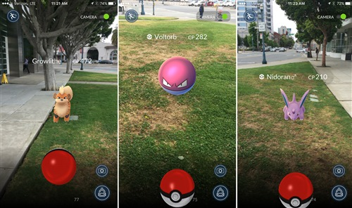 Augmented reality (AR) as portrayed in Pokemon Go (Source: Verge)