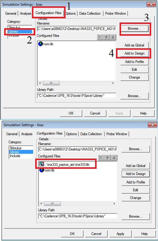 Resolved Importing Ti Pspice Models Into Orcad 163 Simulation