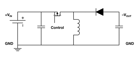 simple schematic of a buck-boost converter