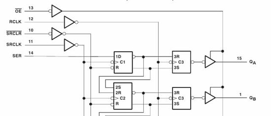 resolved  74hc595 shift register basic questions