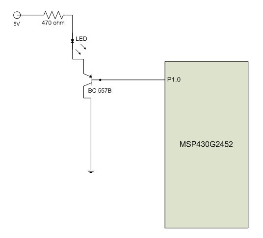 Resolved] Controlling external LED with MSP and BC557B transistor ...