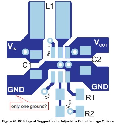 Resolved] TPS61222: Two-ground symbol in schematic? - Non-Isolated ...