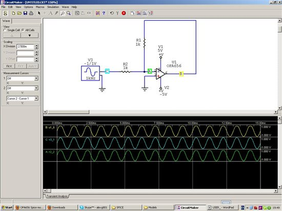 Resolved] OPA656 Spice model - Simulation, hardware & system